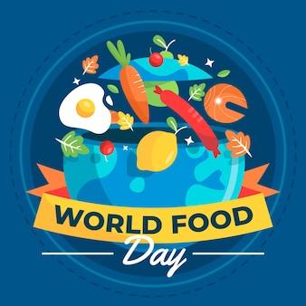 Płaska konstrukcja światowego dnia żywności ilustracja projekt