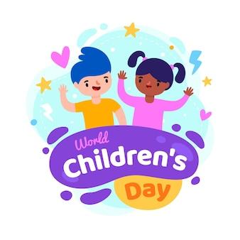 Płaska konstrukcja światowy dzień dziecka