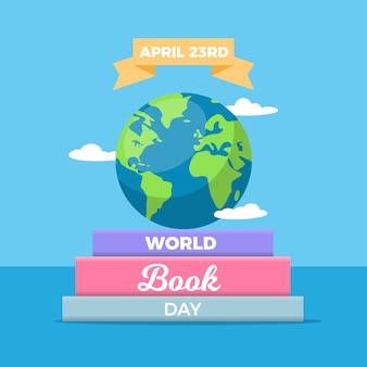 Płaska konstrukcja światowy dzień książki wydarzenie