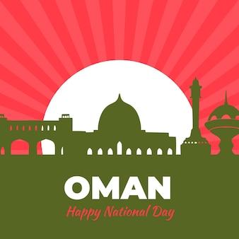Płaska konstrukcja święta narodowego omanu