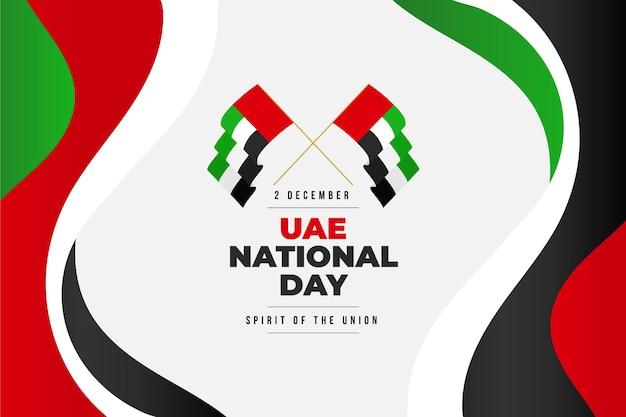Płaska konstrukcja święto narodowe zjednoczonych emiratów arabskich