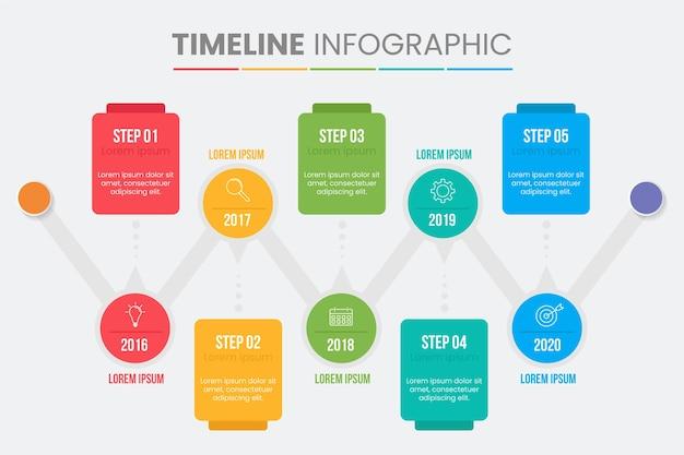 Płaska konstrukcja szablon infographic kroki