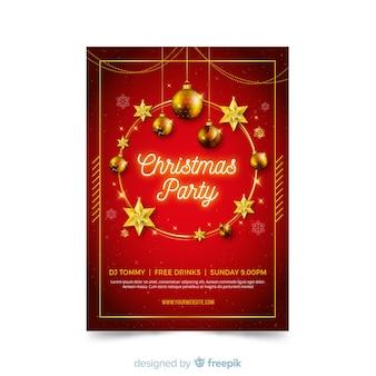 Płaska konstrukcja szablon strony świąteczne plakat