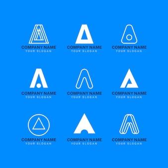 Płaska konstrukcja szablonów logo