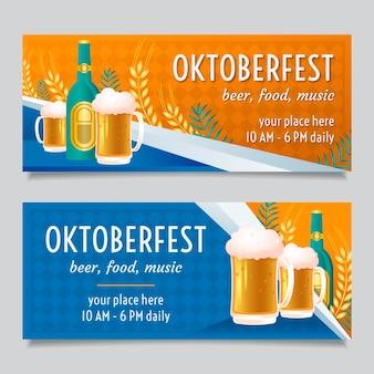 Płaska konstrukcja szablonu banerów oktoberfest