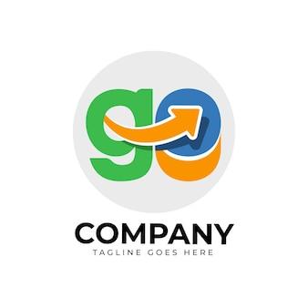 Płaska konstrukcja szablonu logo go