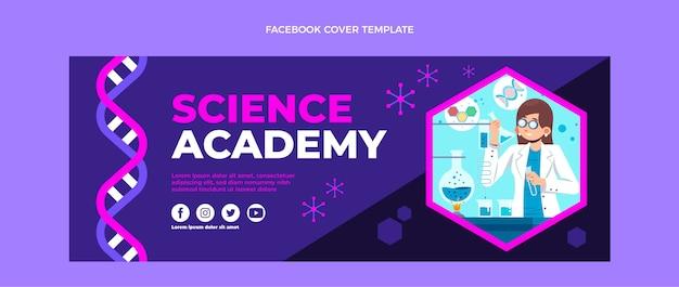 Płaska konstrukcja szablonu okładki facebooka nauki