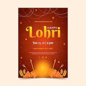 Płaska konstrukcja szablonu plakatu lohri