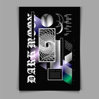 Płaska konstrukcja szablonu plakatu y2k