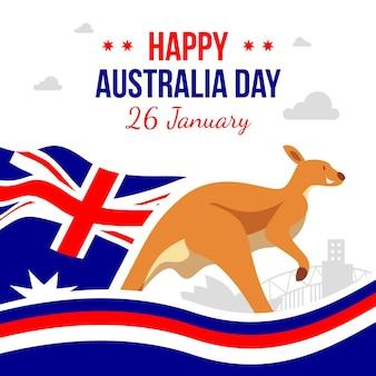 Płaska konstrukcja szczęśliwy dzień australii