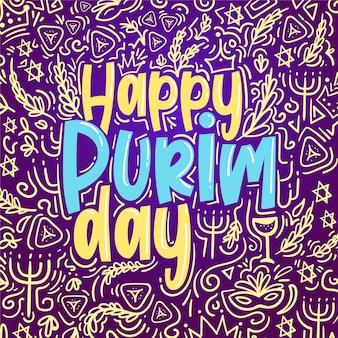 Płaska konstrukcja szczęśliwy dzień purim