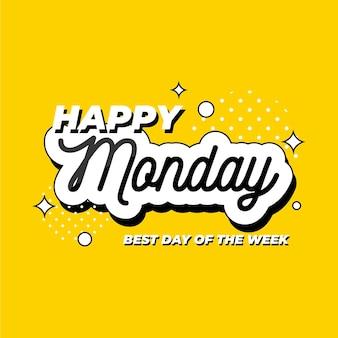 Płaska konstrukcja szczęśliwy poniedziałek tło