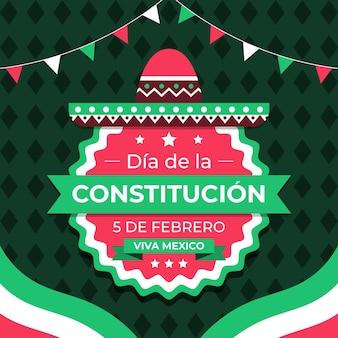 Płaska Konstrukcja Tapety Dzień Konstytucji Meksyku Darmowych Wektorów