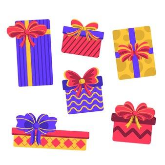 Płaska konstrukcja tapety prezent na boże narodzenie