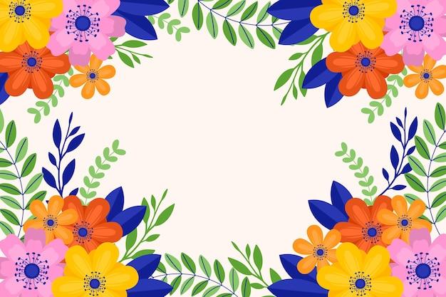 Płaska konstrukcja tapety wiosna