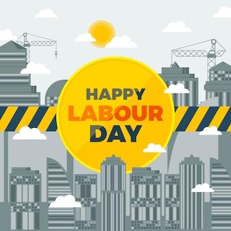 Płaska konstrukcja tematu dzień pracy