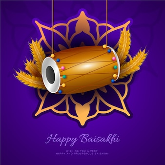 Płaska konstrukcja tematu szczęśliwy festiwal baisakhi