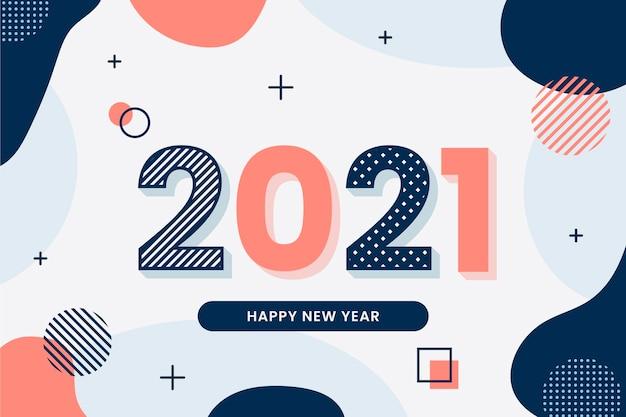 Płaska konstrukcja tła nowego roku