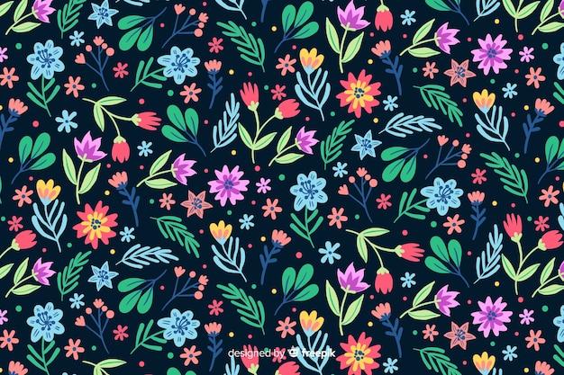 Płaska konstrukcja tło dekoracyjne kwiaty