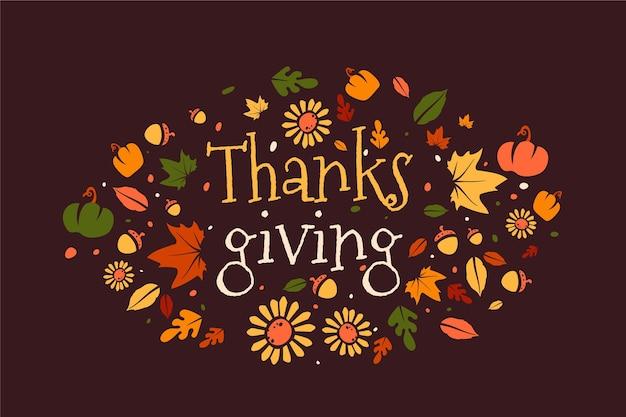 Płaska konstrukcja tło dziękczynienia
