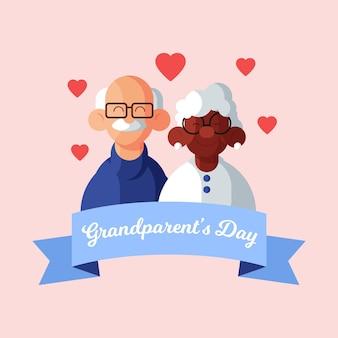 Płaska konstrukcja tło dzień krajowych dziadków