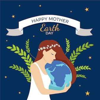 Płaska konstrukcja tło dzień matki ziemi