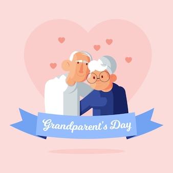 Płaska konstrukcja tło dzień narodowych dziadków