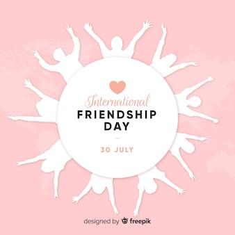 Płaska konstrukcja tło przyjaźni