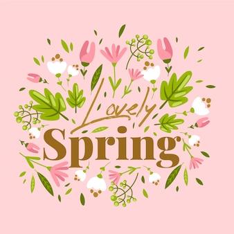 Płaska konstrukcja tło wiosna