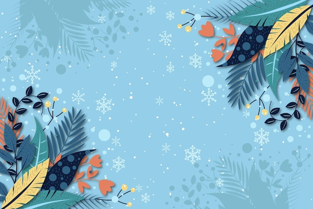 Płaska konstrukcja tło zima