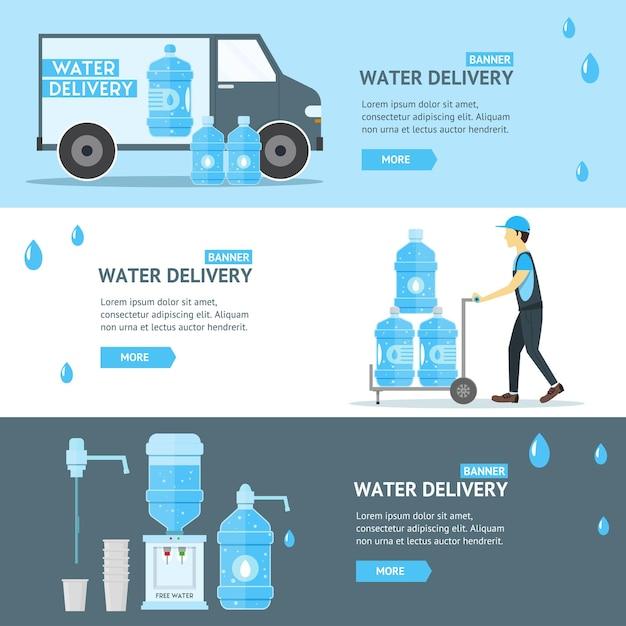 Płaska konstrukcja w branży usług dostawy wody