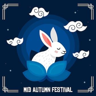 Płaska konstrukcja w połowie jesieni koncepcja festiwalu
