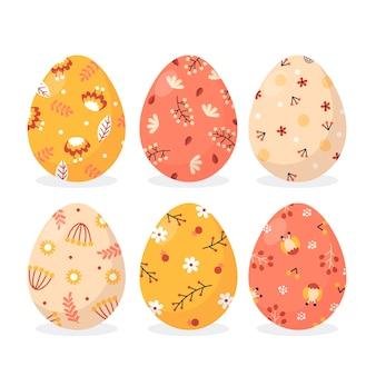 Płaska konstrukcja wielkanocny motyw kolekcji jaj