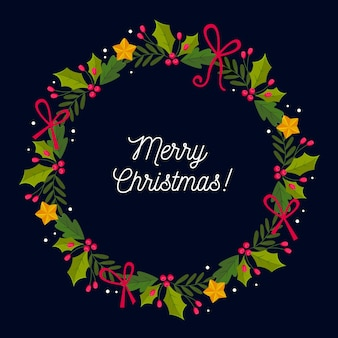 Płaska konstrukcja wieniec bożonarodzeniowy