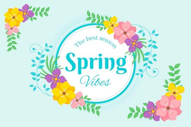 Płaska konstrukcja wiosna kwiatowy rama