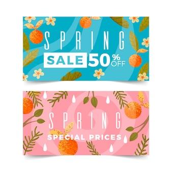 Płaska konstrukcja wiosna sprzedaż transparent kolekcja koncepcja