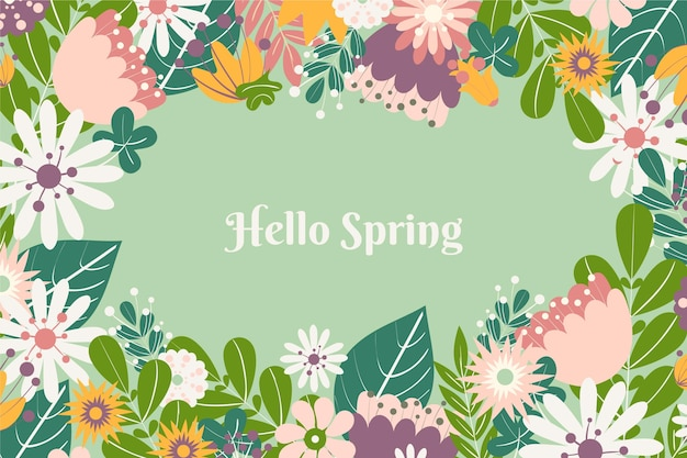 Płaska konstrukcja wiosna tło