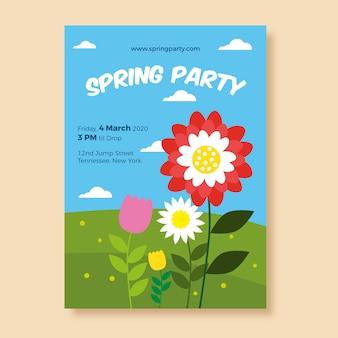 Płaska konstrukcja wiosna ulotki tematu