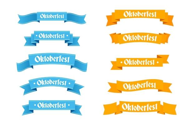Płaska konstrukcja wstążki oktoberfest