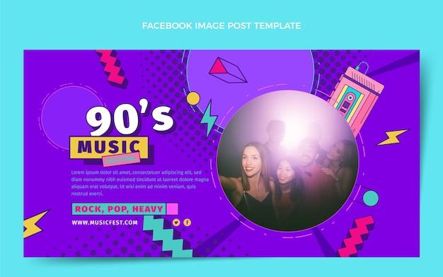 Płaska konstrukcja z lat 90. festiwal muzyczny na facebooku