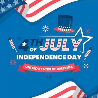 Płaska konstrukcja z okazji dnia niepodległości