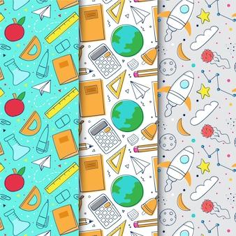 Płaska konstrukcja z powrotem do kolekcji wzorów szkolnych