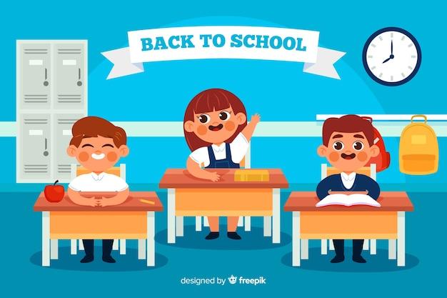 Płaska konstrukcja z powrotem do szkoły