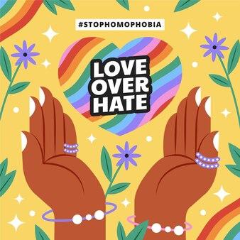 Płaska konstrukcja zatrzymać koncepcję homofobii