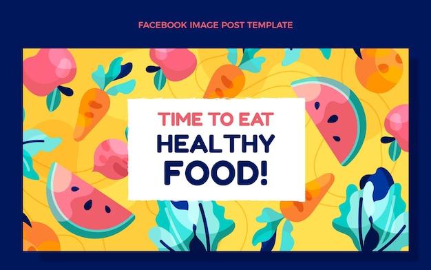 Płaska konstrukcja zdrowej żywności na facebooku
