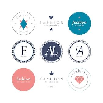 Płaska konstrukcja zestaw akcesoriów mody