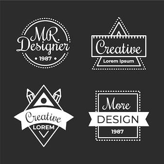 Płaska konstrukcja zestaw logo projektanta graficznego
