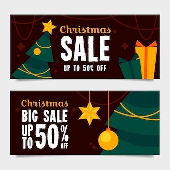 Płaska konstrukcja zestaw świąteczny sprzedaż banerów