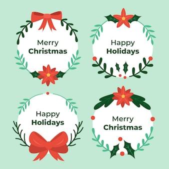 Płaska konstrukcja zestaw wieńców bożonarodzeniowych