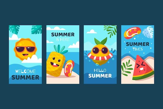 Płaska letnia kolekcja opowiadań na instagramie